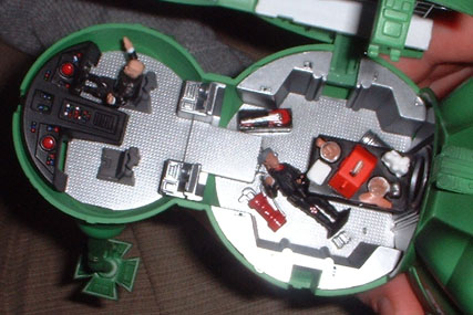 Lister on the floor of Starbug, whilst Kryten pilots. You could do your own stopframe animation with this. Hmmm...