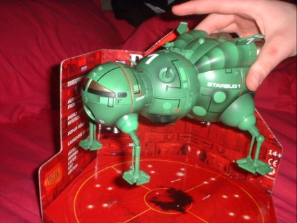 Starbug taking off. Sans difficult packaging.