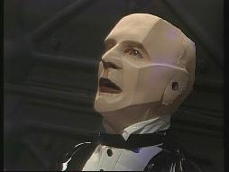 A piccy of Kryten. WHAT A RUBBISH MASK. IT SPOILS THE WHOLE PROGRAMME.